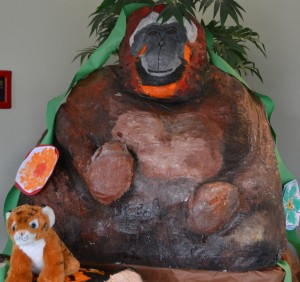 Palm Oil Initiative Display at Woods Services- Model of an Orangutan